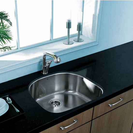 Vigo 24 inch undermount stainless steel 18 gauge single - 18 inch kitchen sink ...