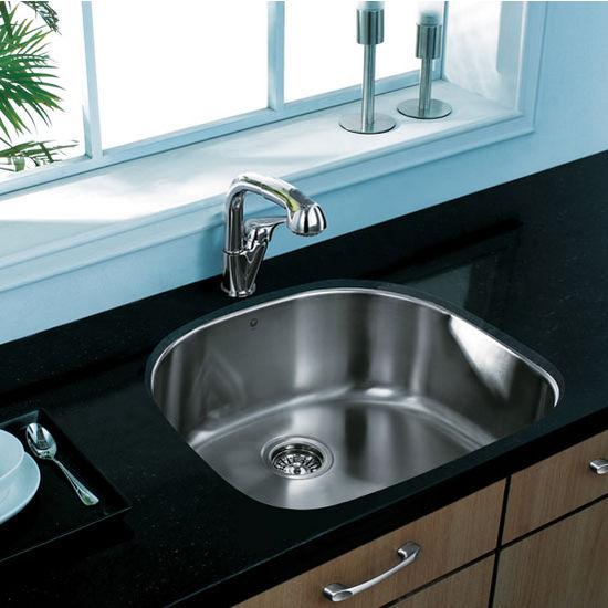 """24"""" Undermount Stainless Steel 18 Gauge Single Bowl Kitchen Sink"""
