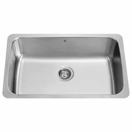 Vigo 30 inch undermount stainless steel 18 gauge single - 18 inch kitchen sink ...