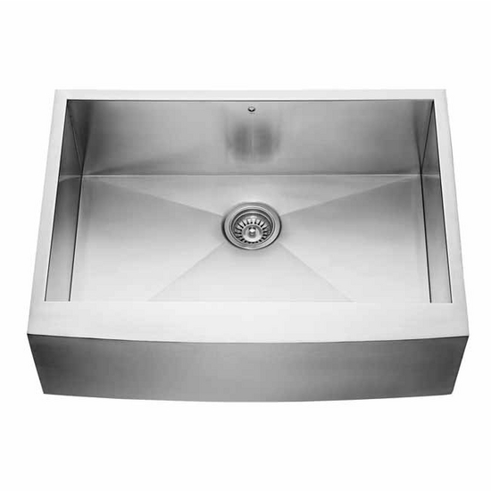24 Inch Stainless Steel Farmhouse Sink : ... 30-inch Farmhouse Stainless Steel 16 Gauge Single Bowl Kitchen Sink