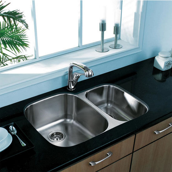 "30"" Undermount Kitchen Sink, Grid and Two Strainers, Stainless Steel Finish, 29-1/2""W x 20-3/4""D"