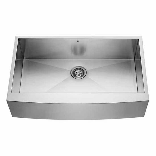 Vigo 36-inch Farmhouse Stainless Steel 16 Gauge Single Bowl Kitchen Sink