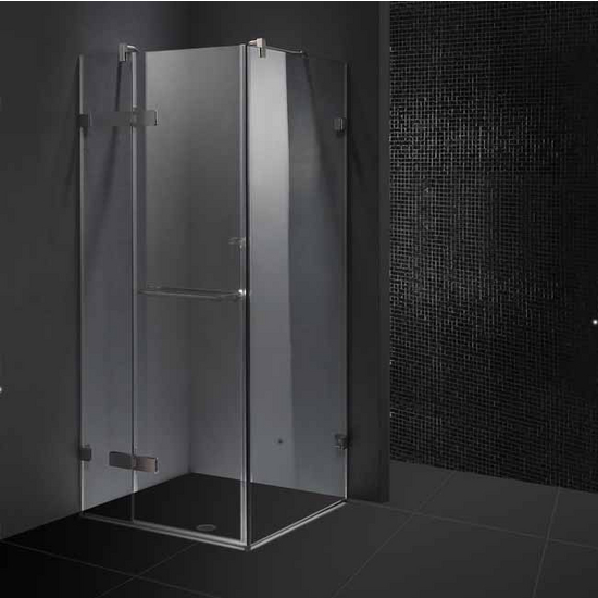 "Vigo 36� x 36� Frameless 3/8"" Clear/Brushed Nickel Shower Enclosure"