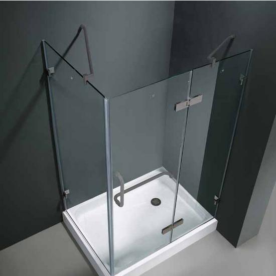 View Larger Image. Vigo 32  x 48  Frameless 3 8   Clear Brushed Nickel Shower