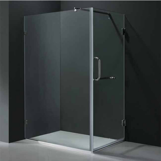 "Vigo 36� x 48� Frameless 3/8"" Clear/Brushed Nickel Shower Enclosure"