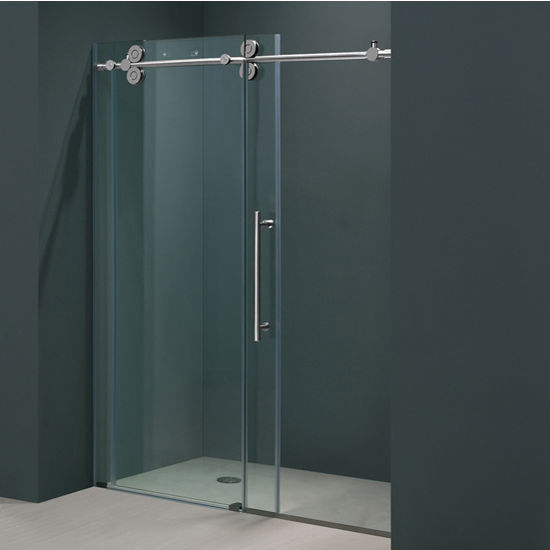 52 Frameless Shower Door 38 Thick Clear Tempered Glass And