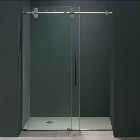 56 Frameless Shower Door 38 Thick Clear Tempered Glass And