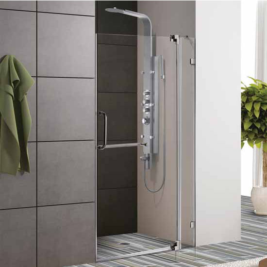 Vigo S Frameless Shower Door Features A Clean Low Profile