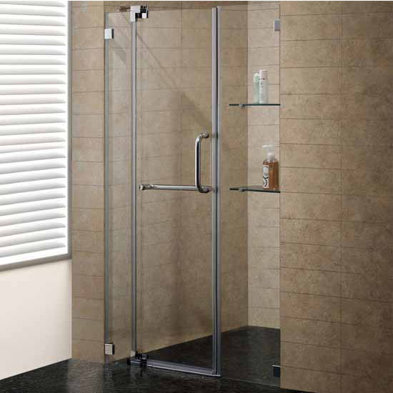 Vigos 48 Inch Frameless Shower Door Features A Clean Low Profile