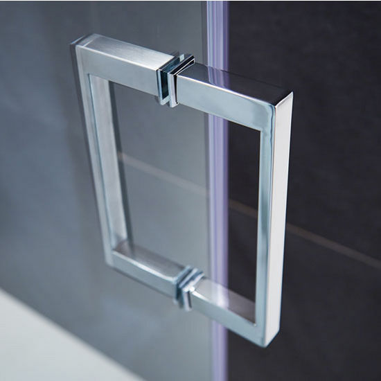 Ryland 48 To 64 Frameless Shower Door With 38 Clear Glass And