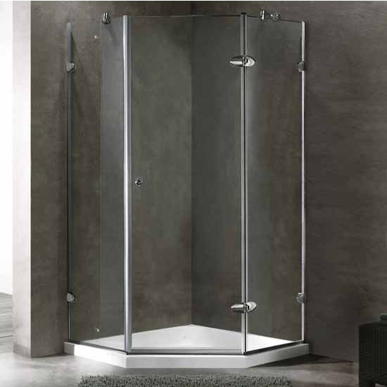 Vigo 40 x 40 Frameless Neo-Angle Shower Enclosure