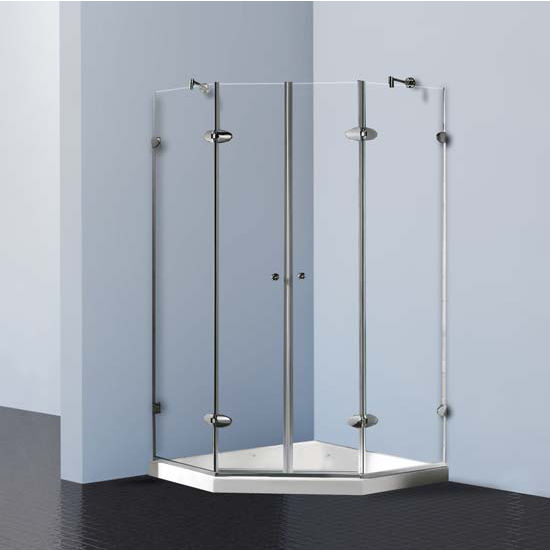 "Vigo Shower Enclosure with Low-Profile Base, 47 5/8"" W x 47 5/8"" L x 78 3/4"" H"