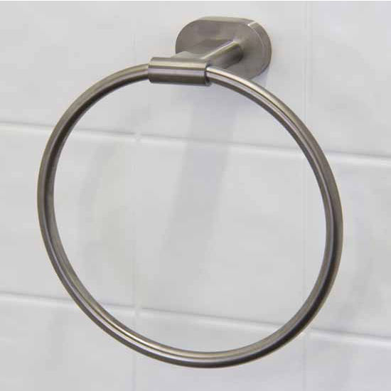 Vigo Ovando Round Design Hand Towel Ring in Brushed Nickel or Oil Rubbed Bronze