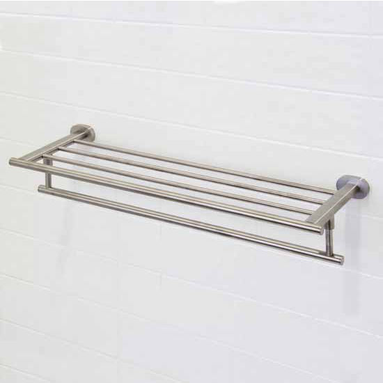 "Vigo Ovando 24"" Round Design Hotel Style Rack and Towel Bar in Brushed Nickel, Oil Rubbed Bronze or Chrome"