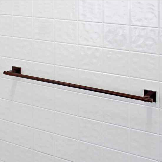 "Vigo Allure 24"" Square Design Towel Bar in Brushed Nickel or Oil Rubbed Bronze"
