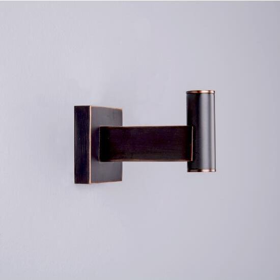 Vigo Allure Square Design Single Hook in Brushed Nickel, Oil Rubbed Bronze or Chrome