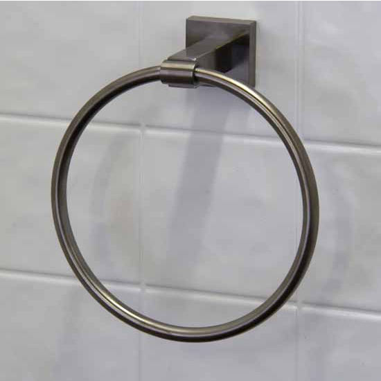 Vigo Allure Square Design Hand Towel Ring in Antique Rubbed Bronze, Brushed Nickel, Oil Rubbed Bronze or Chrome
