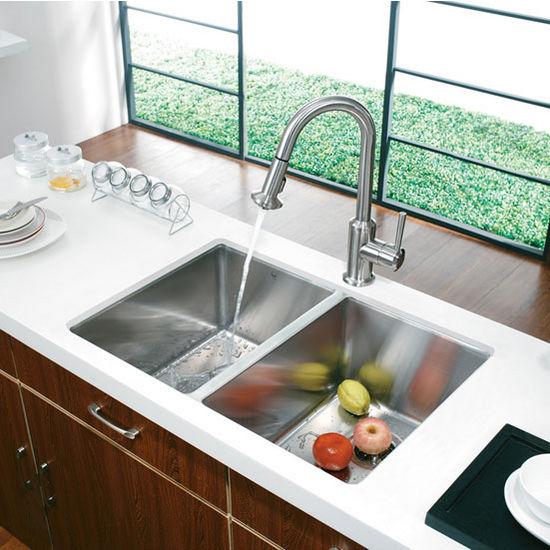 """29"""" Undermount Stainless Steel 16 Gauge Stainless Steel Kitchen Sink"""