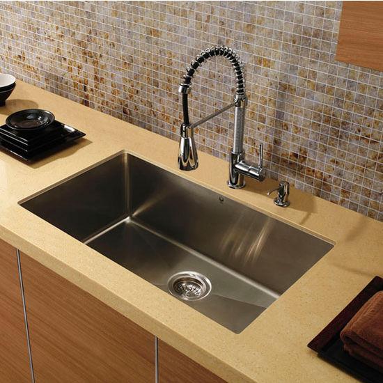 """32"""" Undermount Stainless Steel 16 Gauge Kitchen Sink"""