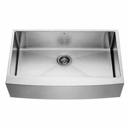 Vigo 36-Inch Farmhouse Stainless Steel 16 Gauge Single Bowl Kitchen Sink