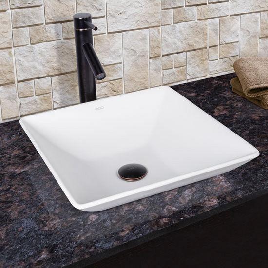 matira composite bathroom vessel sink and faucet set w