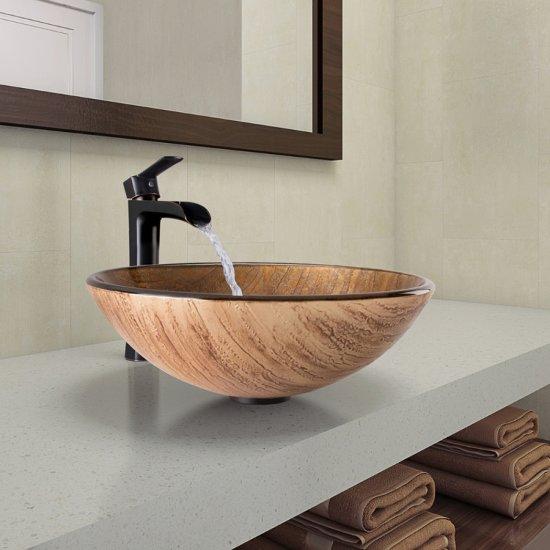 VGT1040 Sink Set w/ Niko Faucet Antique Rubbed Bronze
