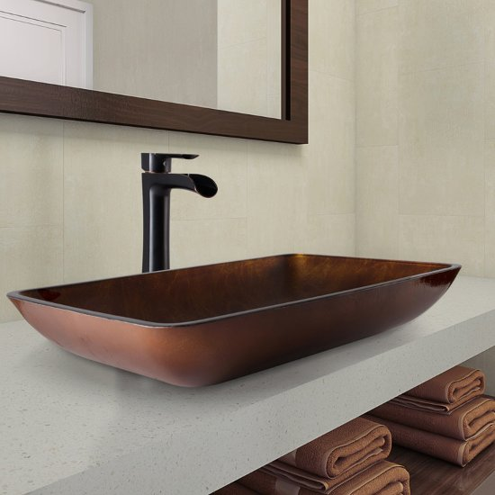VGT1055 Sink Set Niko Faucet Antique Rubbed Bronze