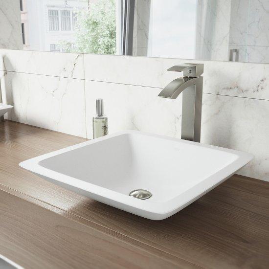 VGT1200 Sink Set w/ Duris Faucet Brushed Nickel