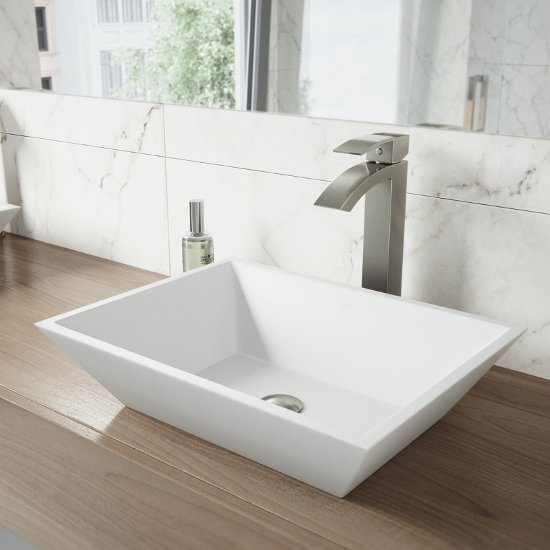 VGT1210 Sink Set w/ Duris Faucet Brushed Nickel