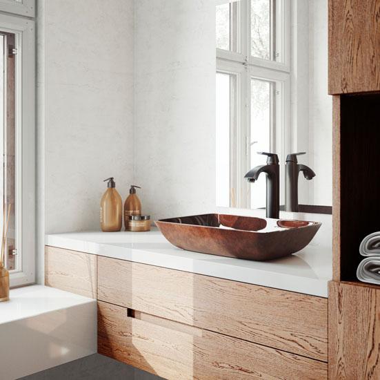 VGT1600 Sink Set w/ Linus Vessel Faucet