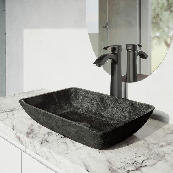 VGT1802 Sink Set w/ Otis Faucet Matte Black