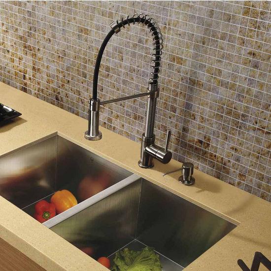 Vigo Pull Out Spray Kitchen Faucet 18 3 8 Spout Height
