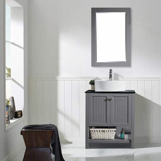 Vinnova Bathroom Vanity Lifestyle View Front Grey
