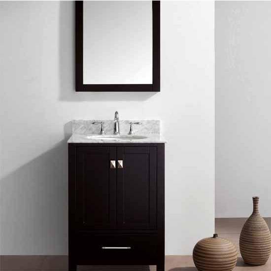Virtu USA 24'' Caroline Avenue Single Sink Cabinet, Espresso