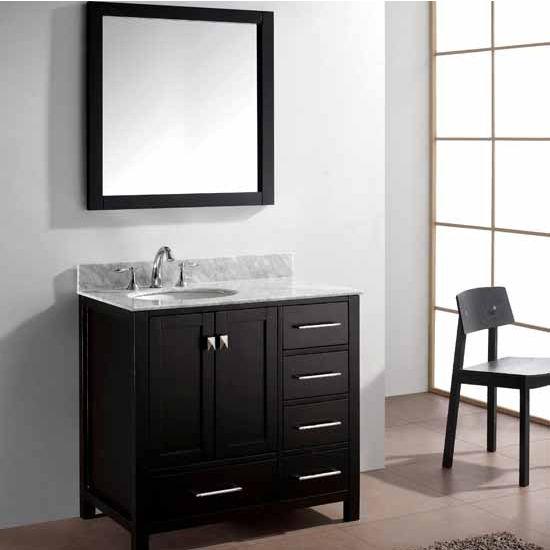 Virtu USA 36'' Caroline Avenue Single Sink Cabinet, Espresso