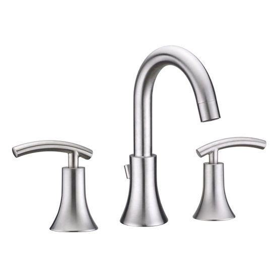 "Virtu Athen Bathroom Faucet, Brushed Nickel Finish, 14""W x 7""D x 9""H"