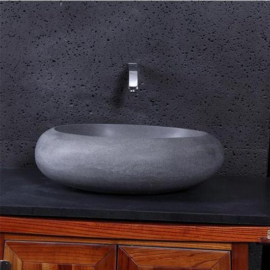Virtu Athena Vessel Bathroom Sink in Andesite Granite