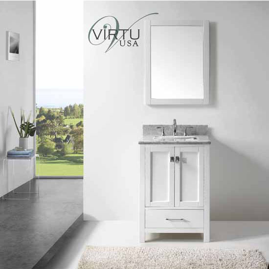 24 quot caroline avenue single sink bathroom vanity by virtu
