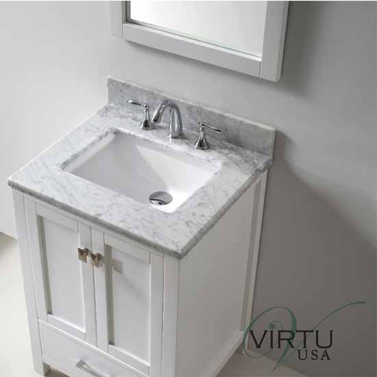24 caroline avenue single sink bathroom vanity by virtu usa made with zero emissions solid oak Bathroom cabinets made in usa