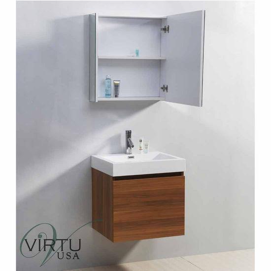 "24"" Zuri Single Sink Bathroom Vanity Set by Virtu USA Made ..."