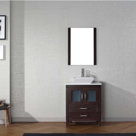 """Virtu USA Dior 28"""" Single Sink Bathroom Vanity Set"""