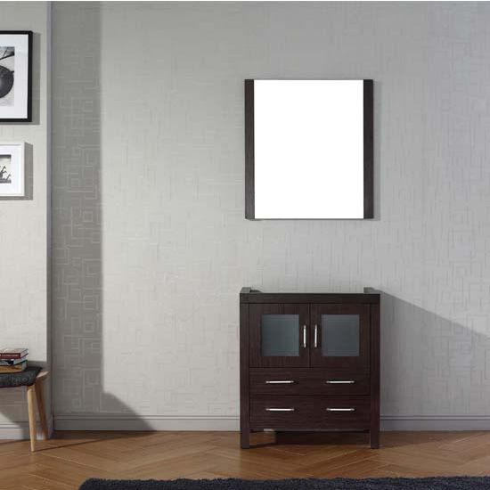 Virtu USA 30'' Dior Single Sink Bathroom Vanity Cabinet, Espresso