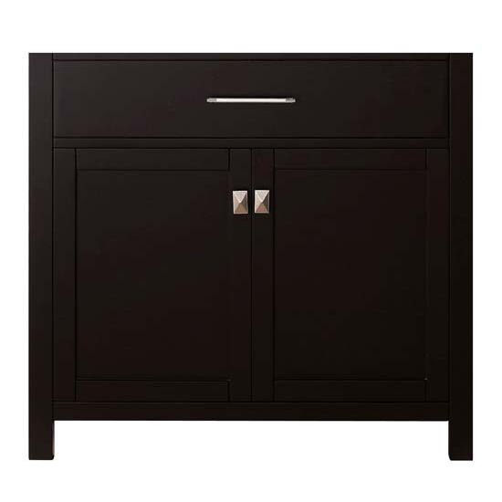 Virtu USA 36'' Caroline Single Sink Cabinet, Espresso