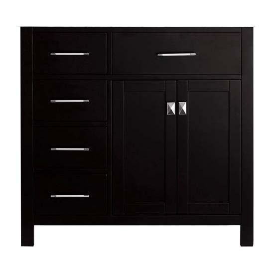 Virtu USA 36'' Caroline Parkway Left Drawers Single Sink Cabinet, Espresso