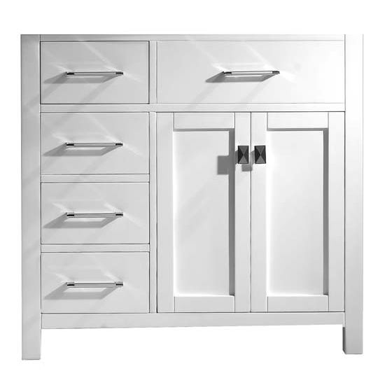 Bathroom vanities 36 39 39 caroline parkway single bathroom - Bathroom vanity with drawers on left ...