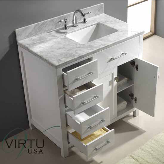 """36"""" Caroline Parkway Single Sink Bathroom Vanity By Virtu USA"""