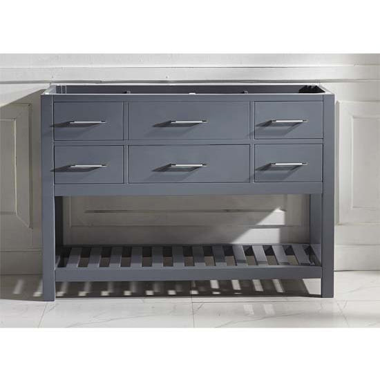 Bathroom vanities 48 39 39 caroline estate single bathroom - Unfinished shaker bathroom vanity ...