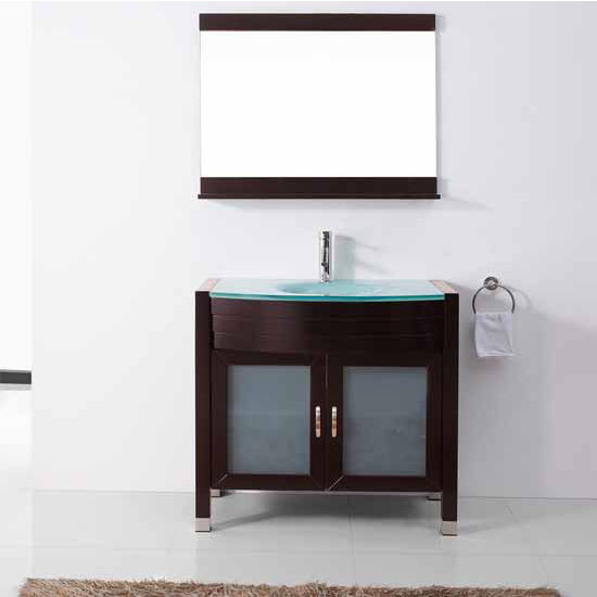 Bath vanities vina complete bath vanity set by virtu usa Complete bathroom vanity