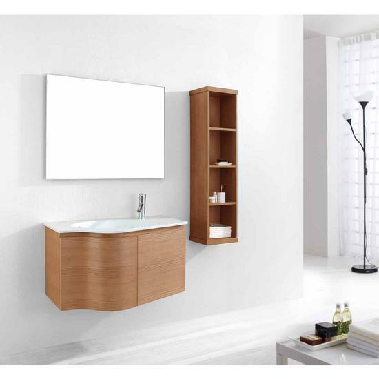 "Virtu Roselle 36"" Single Sink Bathroom Vanity Set, Chestnut"