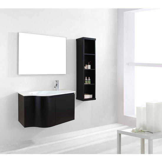 "Virtu USA Roselle 36"" Wall Mounted Single Sink Bathroom Vanity Set"